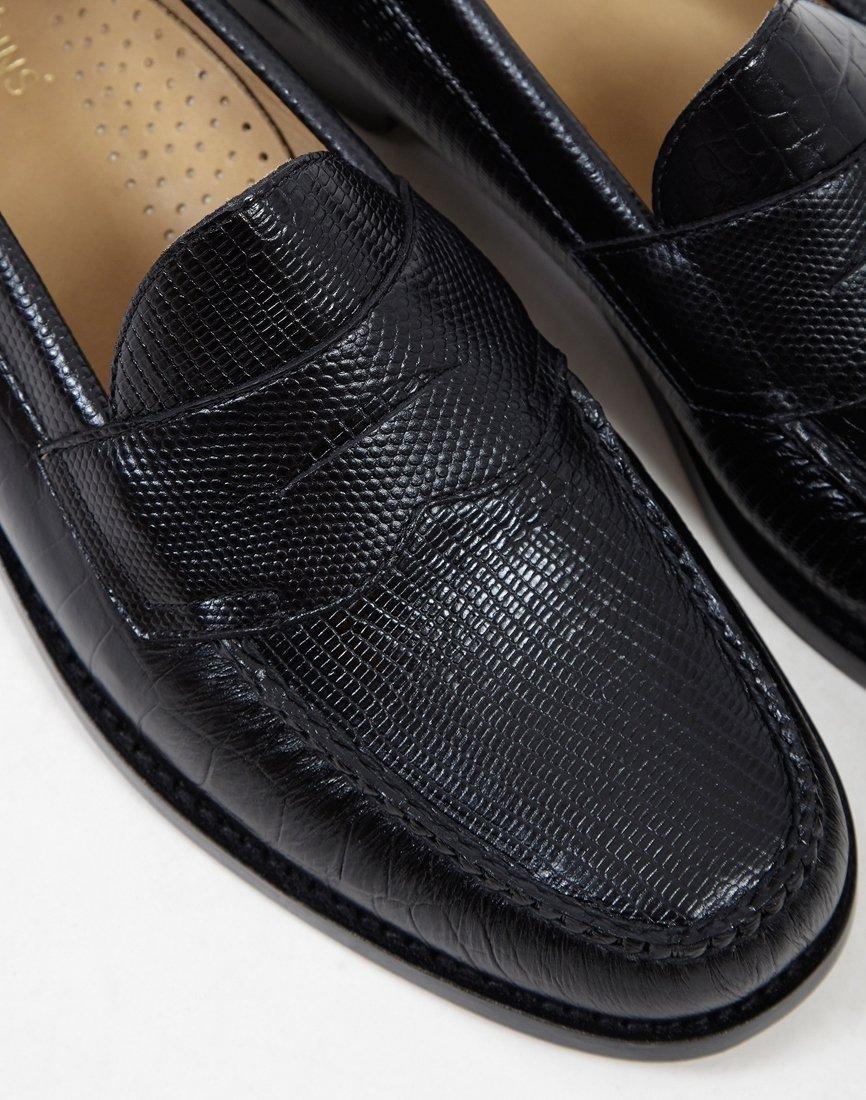 7bfe70efe1b7 Lyst - G.H.BASS G.h. Bass Co. Weejun Logan Eg Croc Loafer Black in Black  for Men