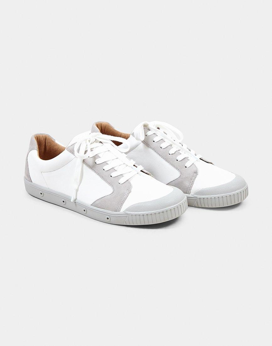 aefefefa73ad Spring Court Leather   Suede Plimsoll White in White for Men - Lyst
