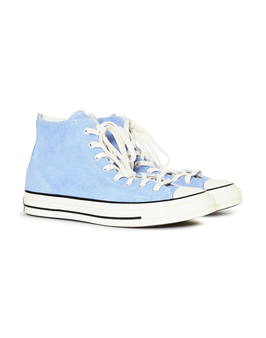 Lyst - Converse Chuck Taylor All Star  70 Vintage Suede Hi Blue in ... a8835f46c