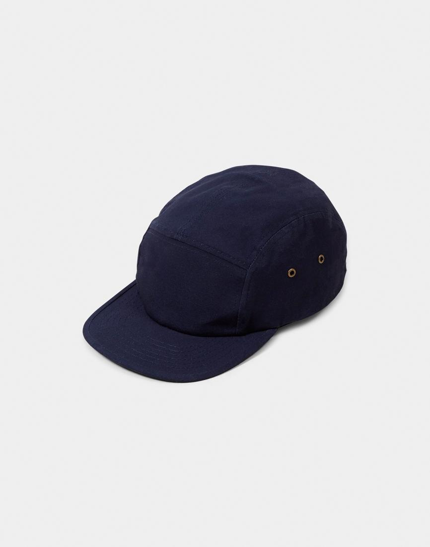 b7c04d198f Lyst - The Idle Man 5 Panel Cap Navy in Blue for Men