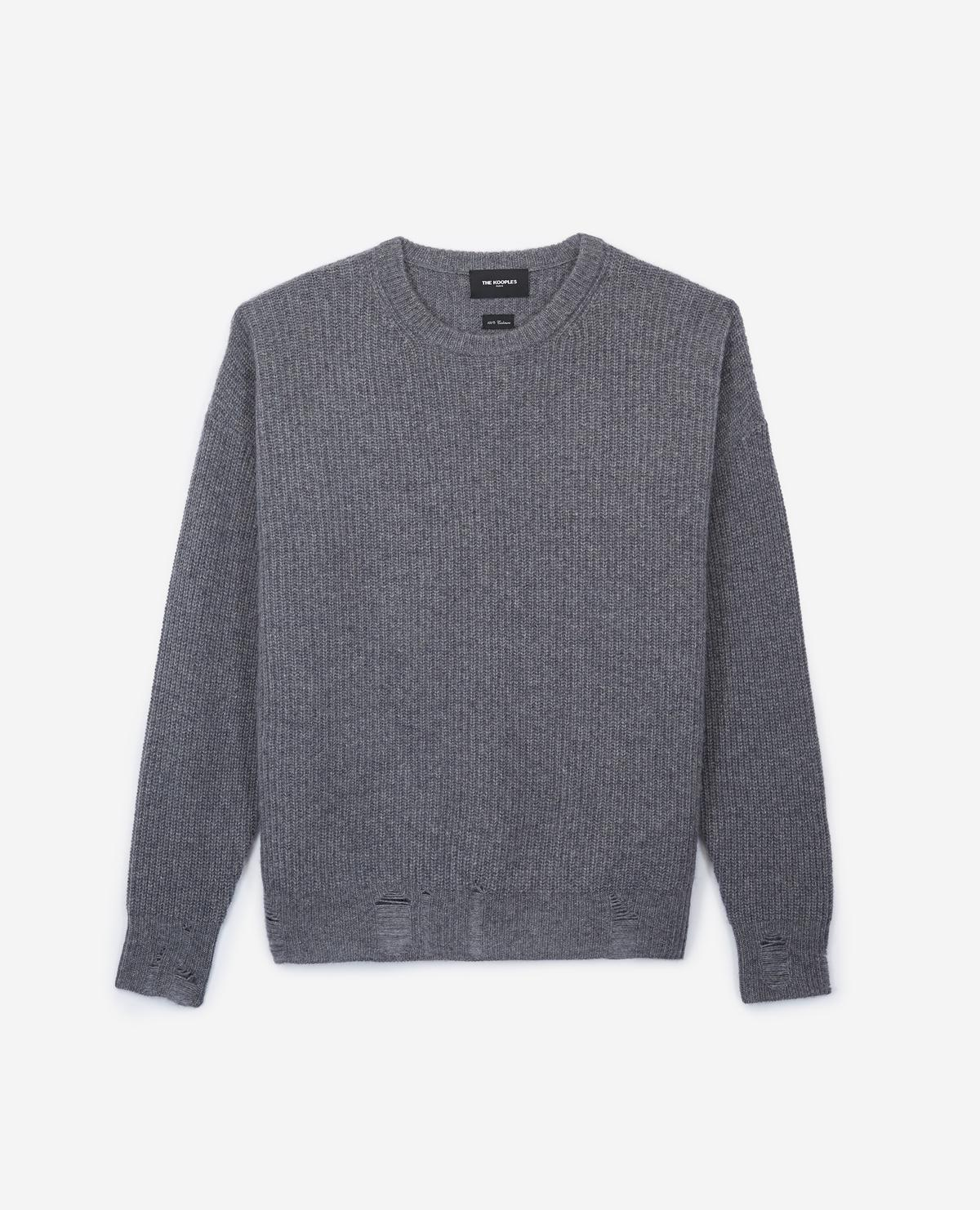 888b34861a9ff Lyst - The Kooples Ripped Cashmere Sweater for Men