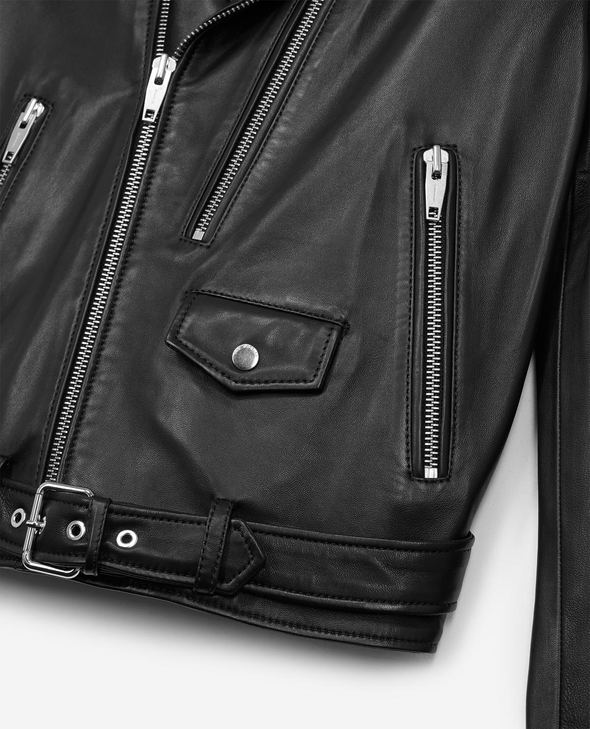 ea8599c691 The Kooples Leather Jacket With Double Puller Front And Centre in ...