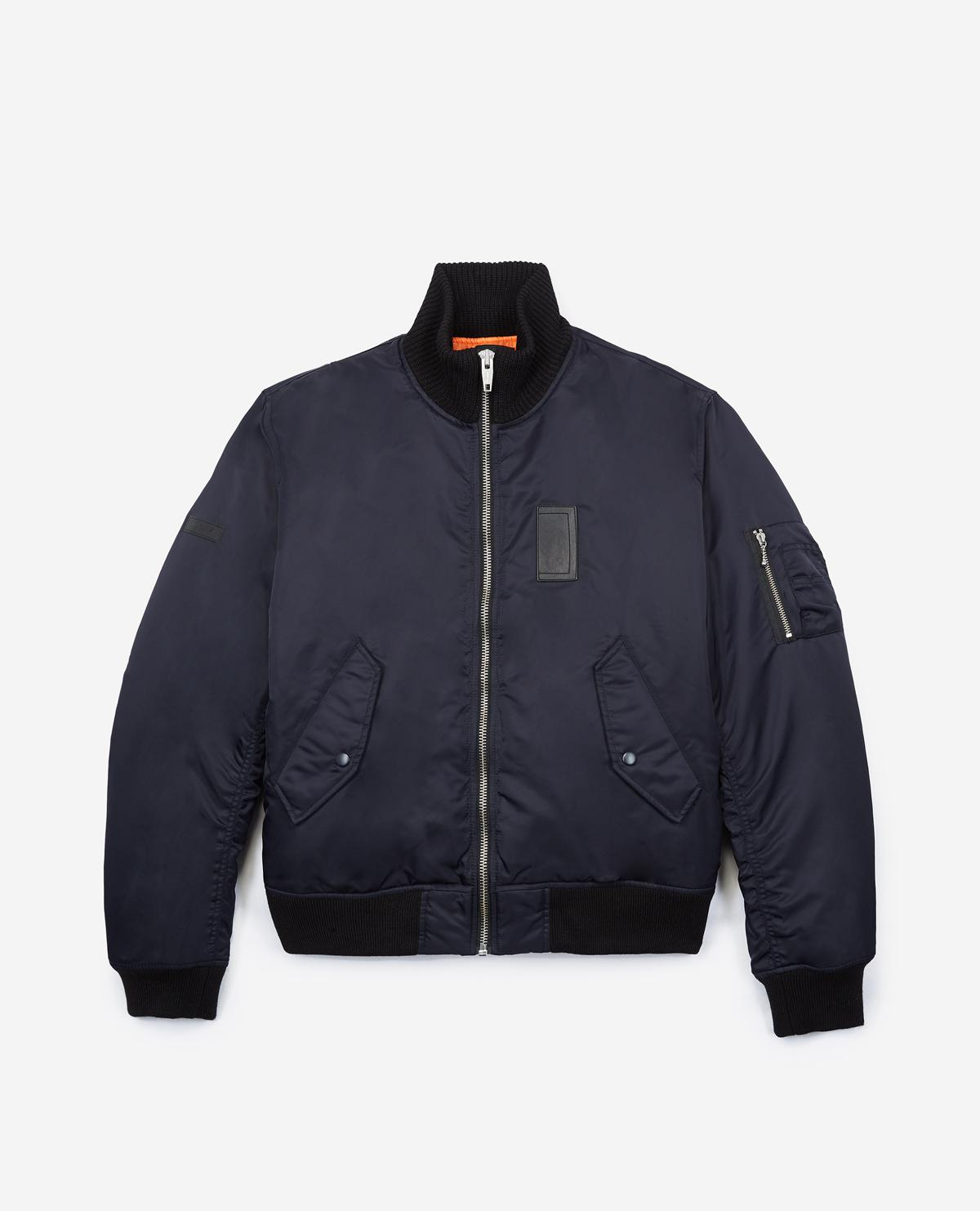 00bdb6f8dfc Lyst - The Kooples Oversize Jacket With Raised Rib Collar in Blue ...