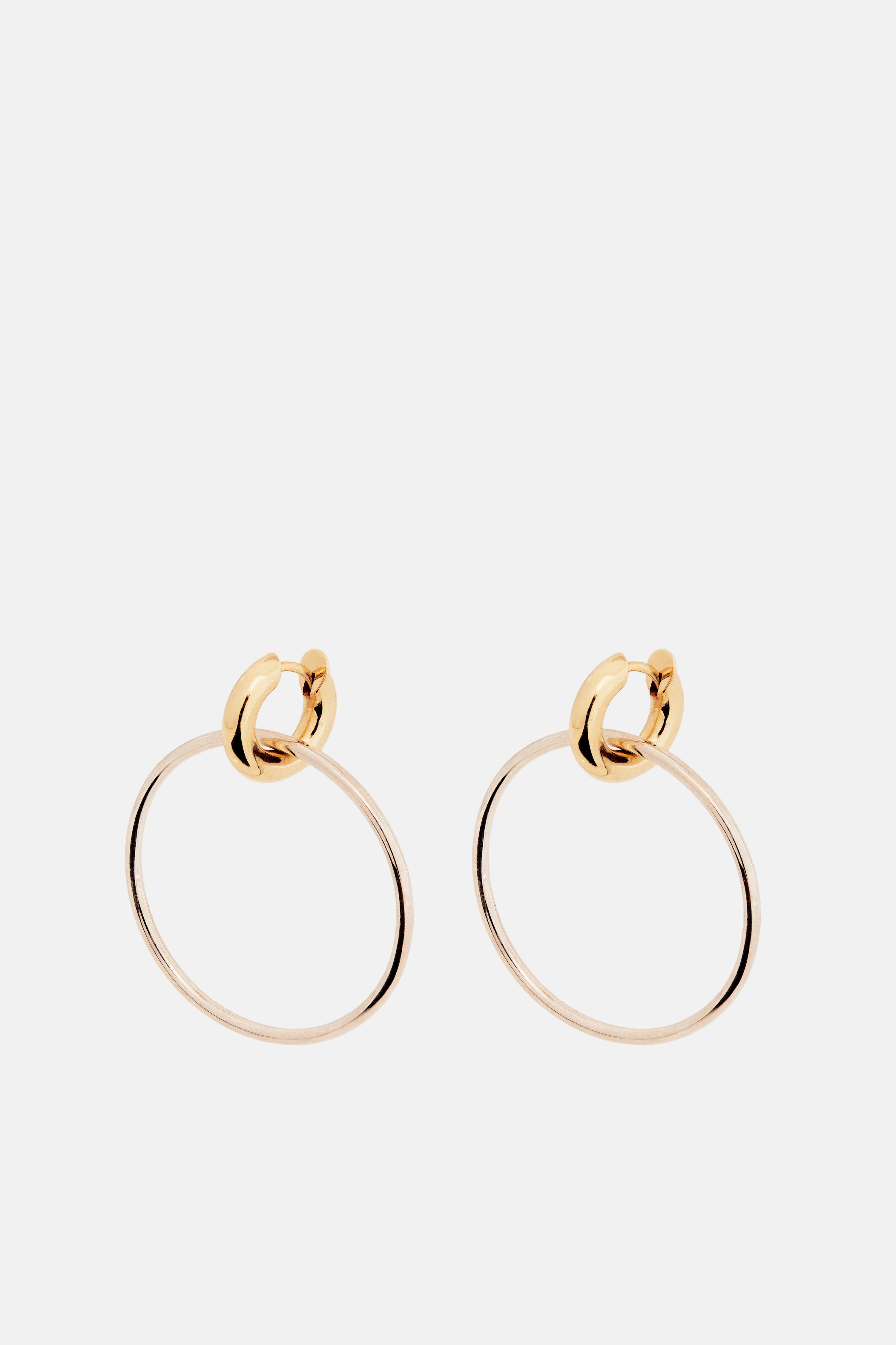 Spinelli Kilcollin Ara Hoop Earrings With Micropave White Diamond Annulets - Yellow Gold Os 5wnRfSfR