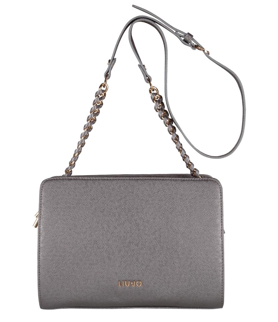 Liu Jo Tracolla Small Anna Chain Bag in Gray - Lyst aa37bf9291b
