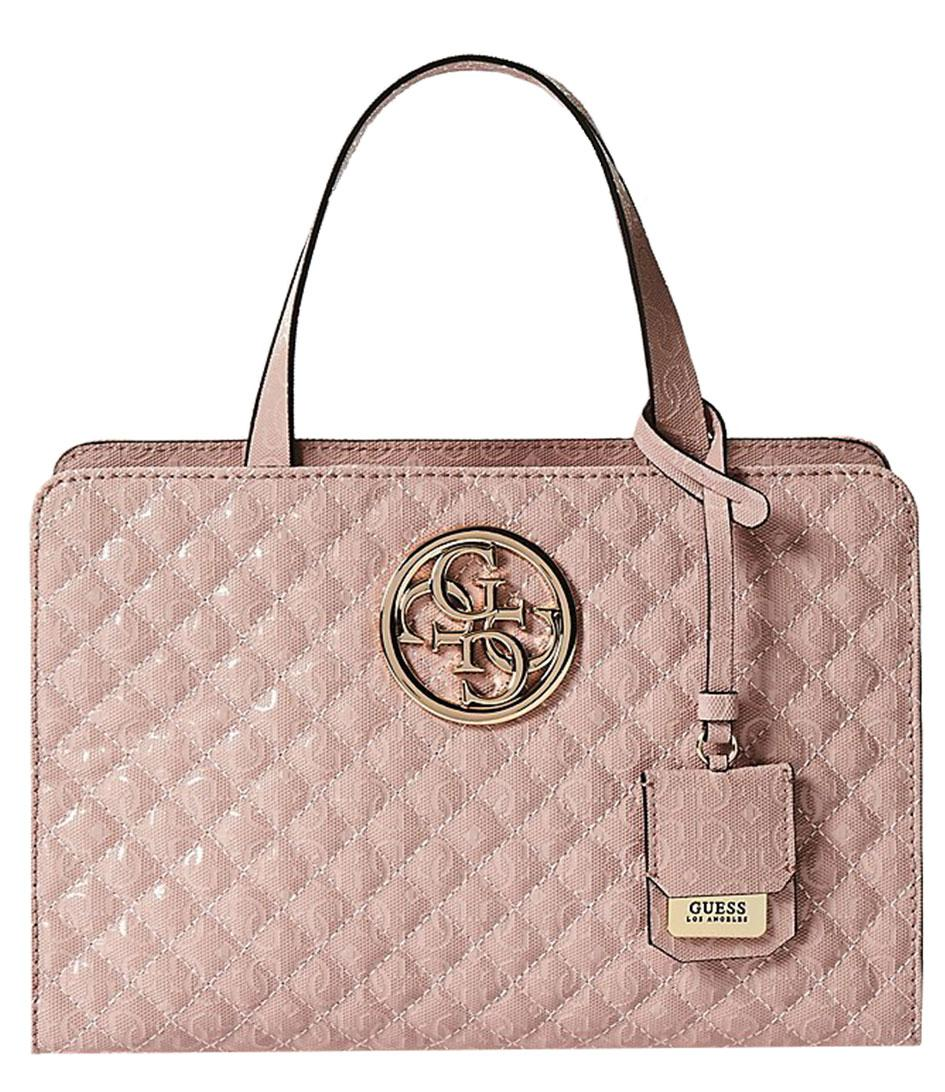 Guess Gioia Small Girlfriend Satchel in Pink - Lyst ffc7b3984377b