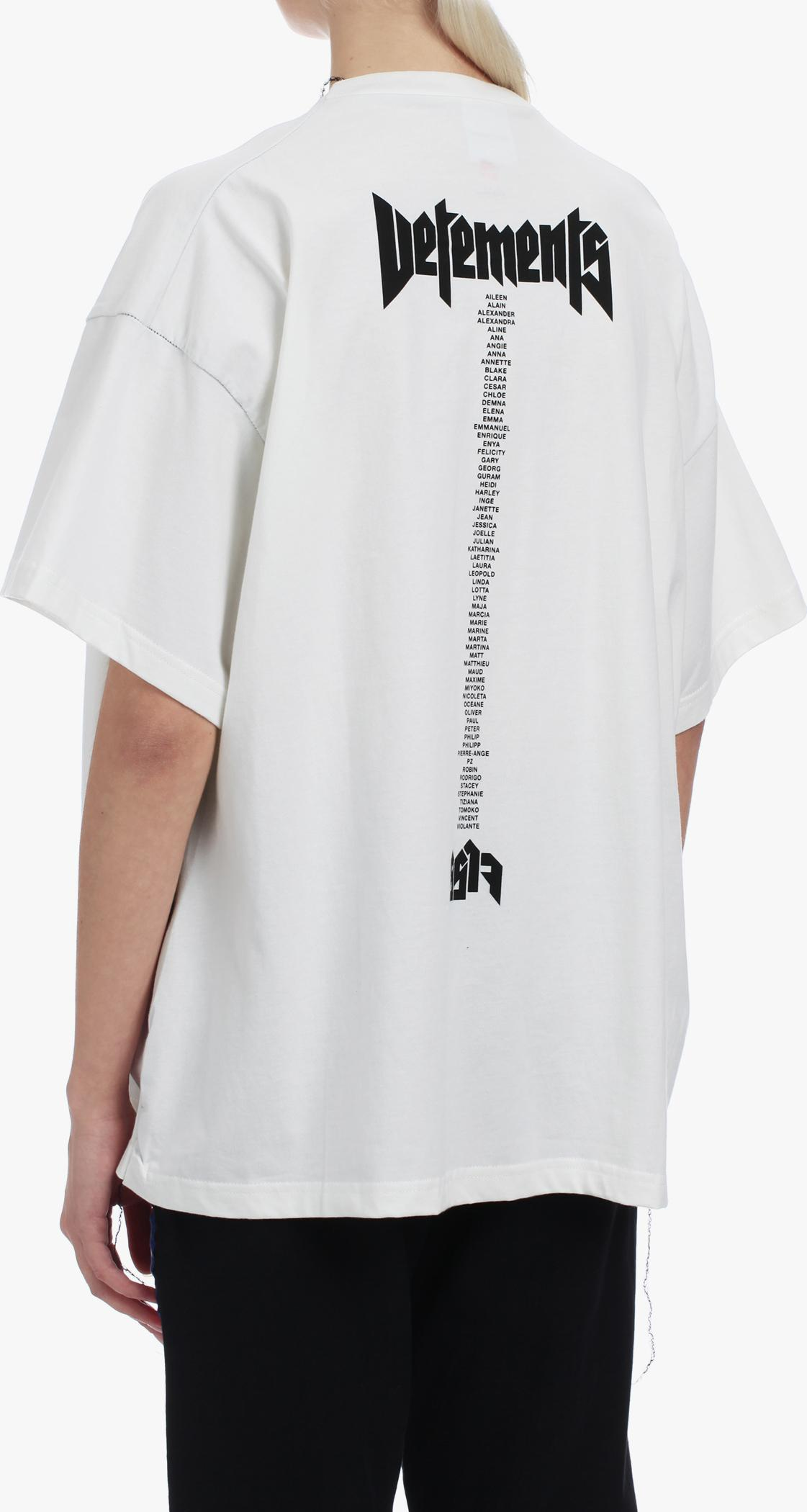 Vetements hanes x quick made oversized printed t in white for Get shirts made fast