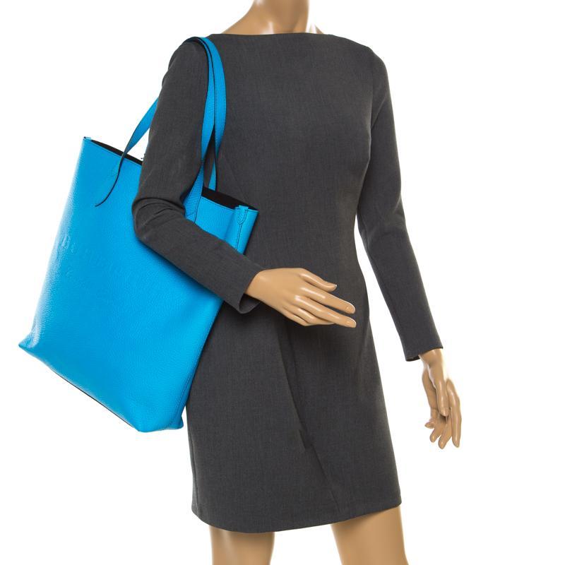 10b59cb2a461 Burberry - Blue Neon Leather Remington Shopper Tote - Lyst. View fullscreen