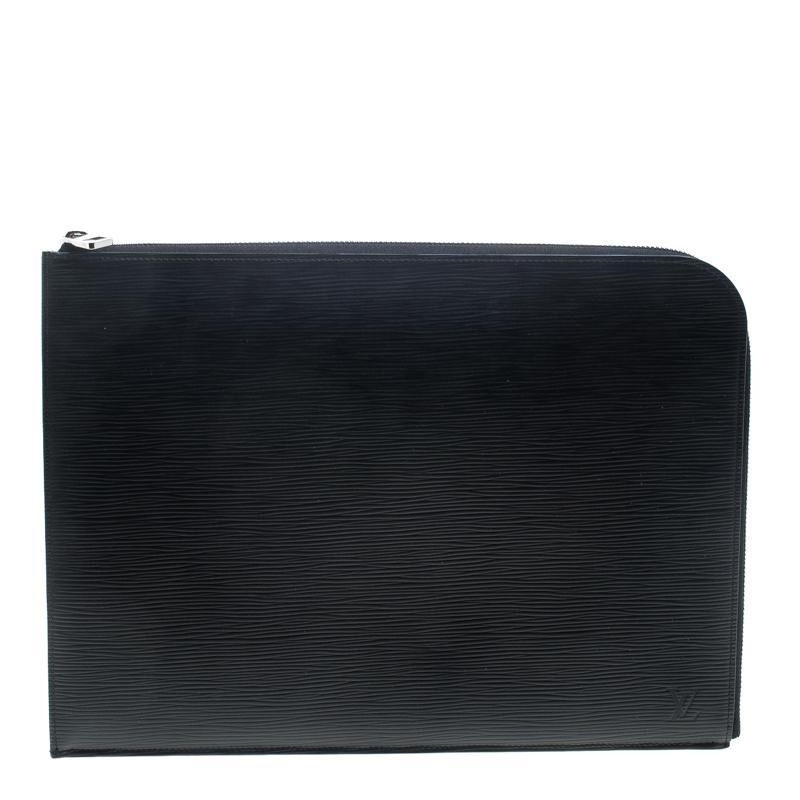 f8fc800ea051 Louis Vuitton Epi Leather Poche Documents Portfolio Case in Black ...
