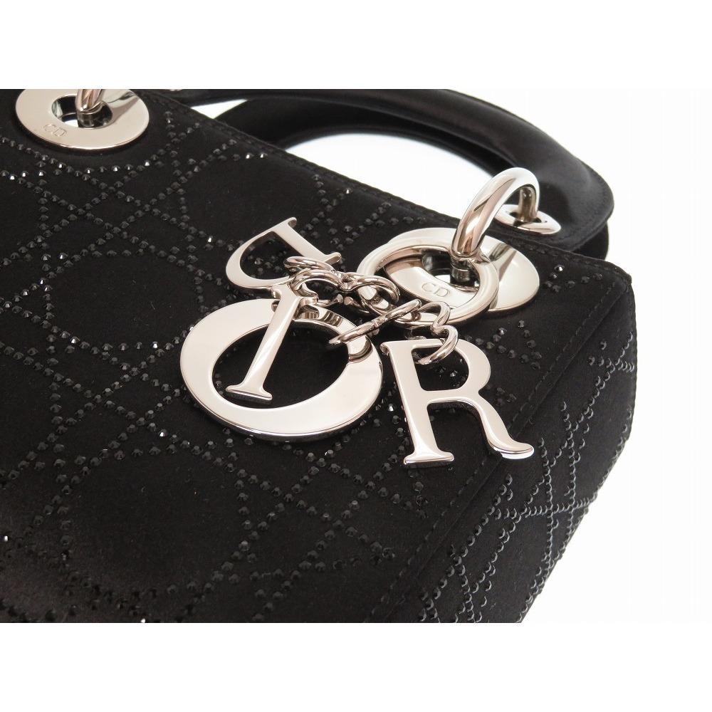 Dior - Black Cannage Quilted Satin Rhinestone Mini Lady Tote - Lyst. View  fullscreen 91882e4bb7