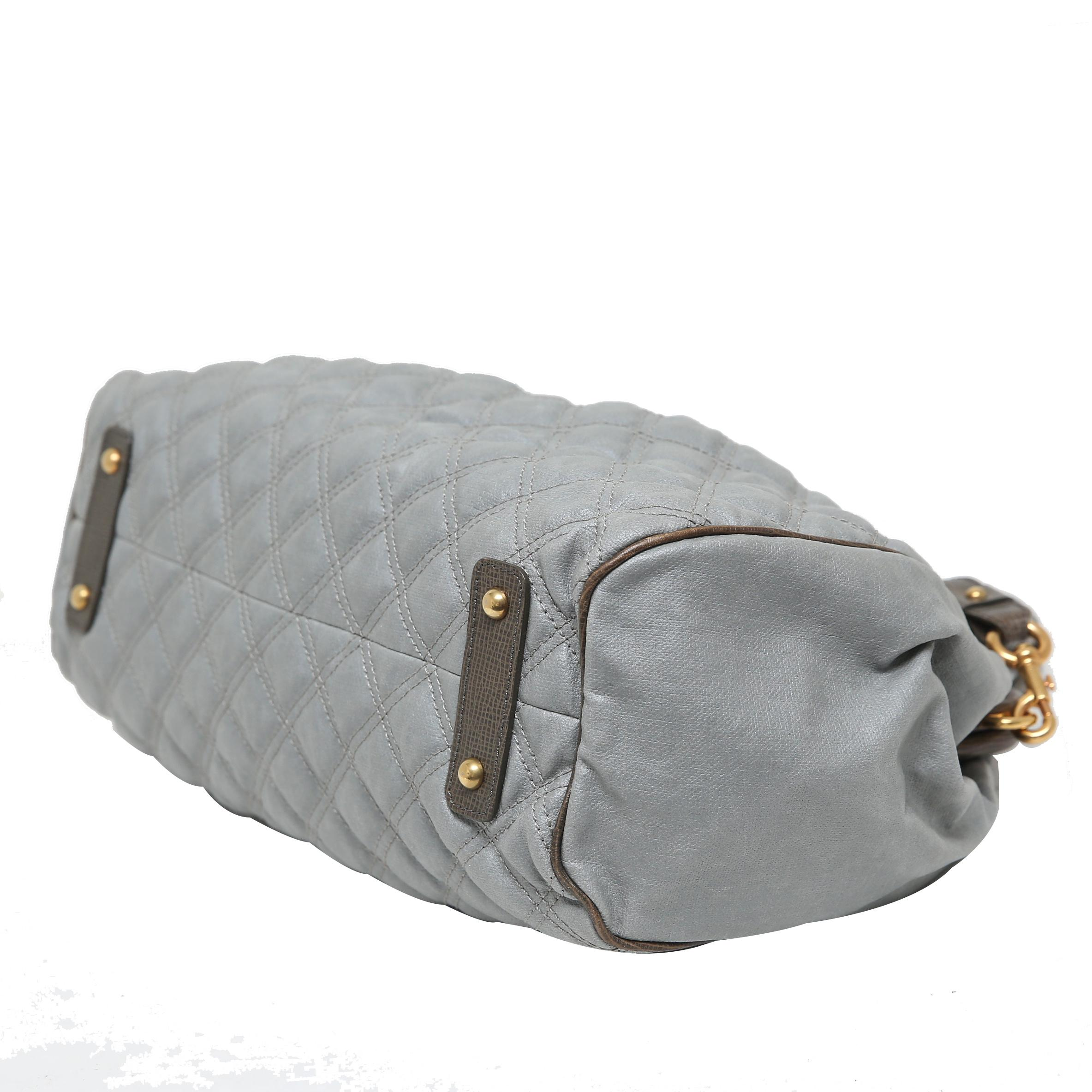574a30c16a30 Marc Jacobs - Gray Grey Quilted Coated Canvas Stam Satchel Bag - Lyst. View  fullscreen