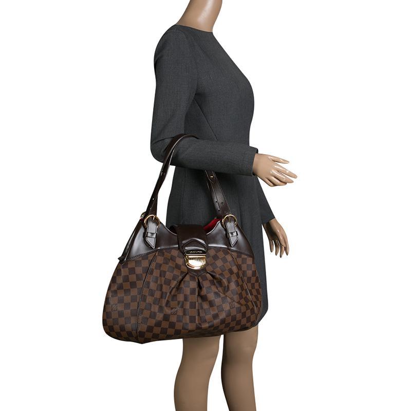 11f5bbbd86d Louis Vuitton - Brown Damier Ebene Canvas Sistina Gm Bag - Lyst. View  fullscreen