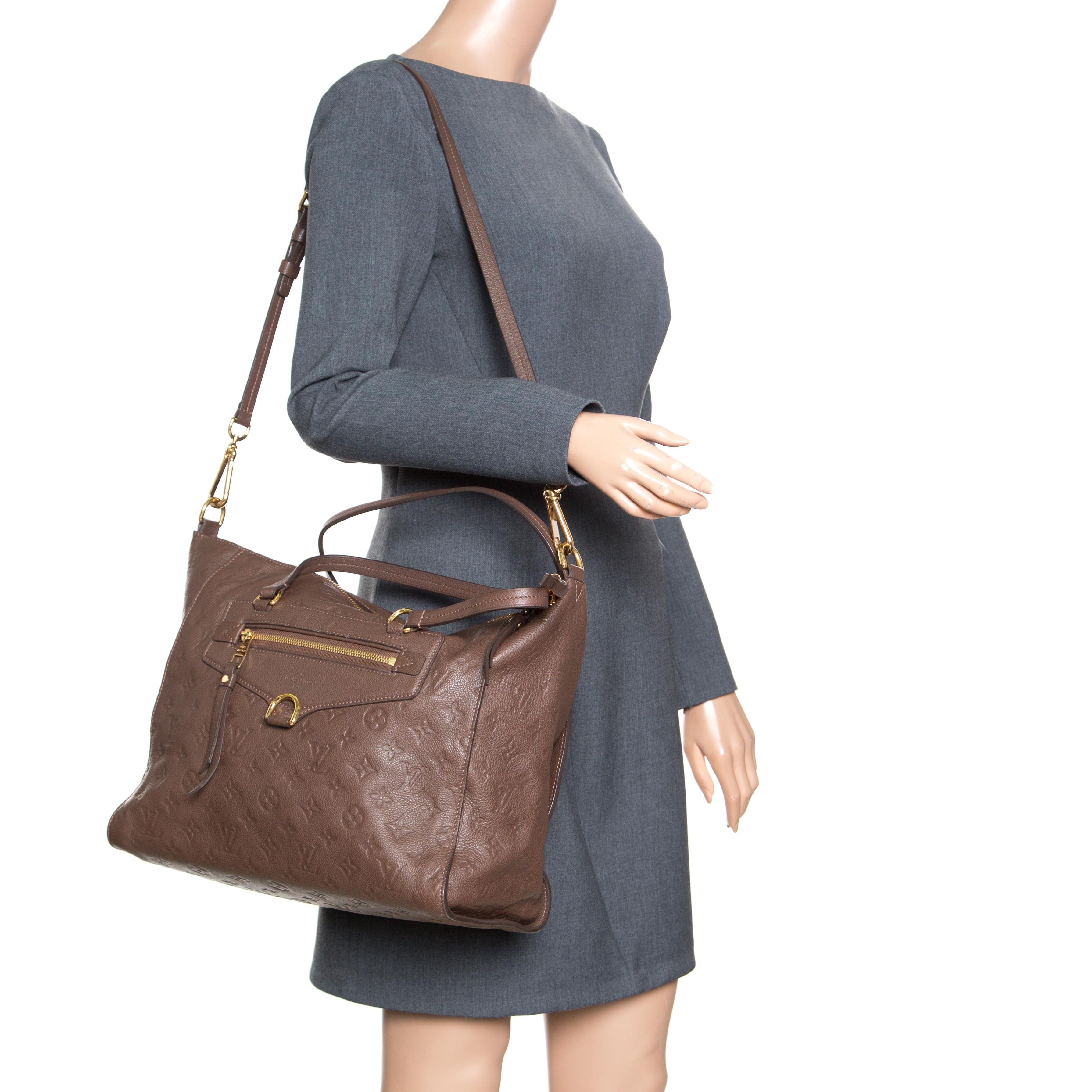 Louis Vuitton - Brown Ombre Monogram Empreinte Leather Lumineuse Pm Bag -  Lyst. View fullscreen 69758b86f48ab