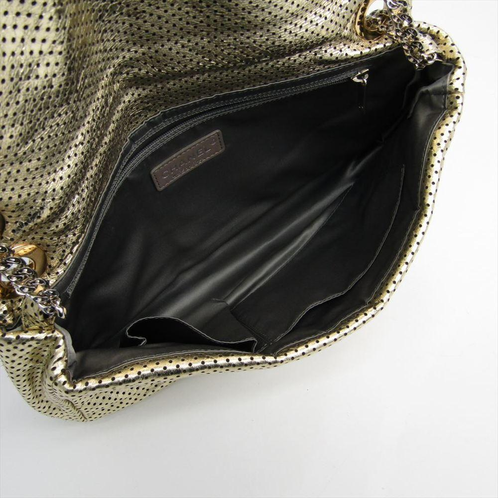 20c2d68c63c2 Chanel - Metallic Gold Drill Perforated Leather 2.55 Reissue Classic Flap  Bag - Lyst. View fullscreen