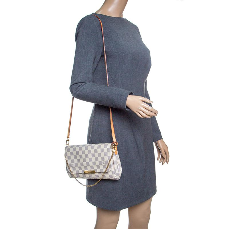 45813ee01ee Lyst - Louis Vuitton Damier Azur Monogram Canvas Favorite Mm ...