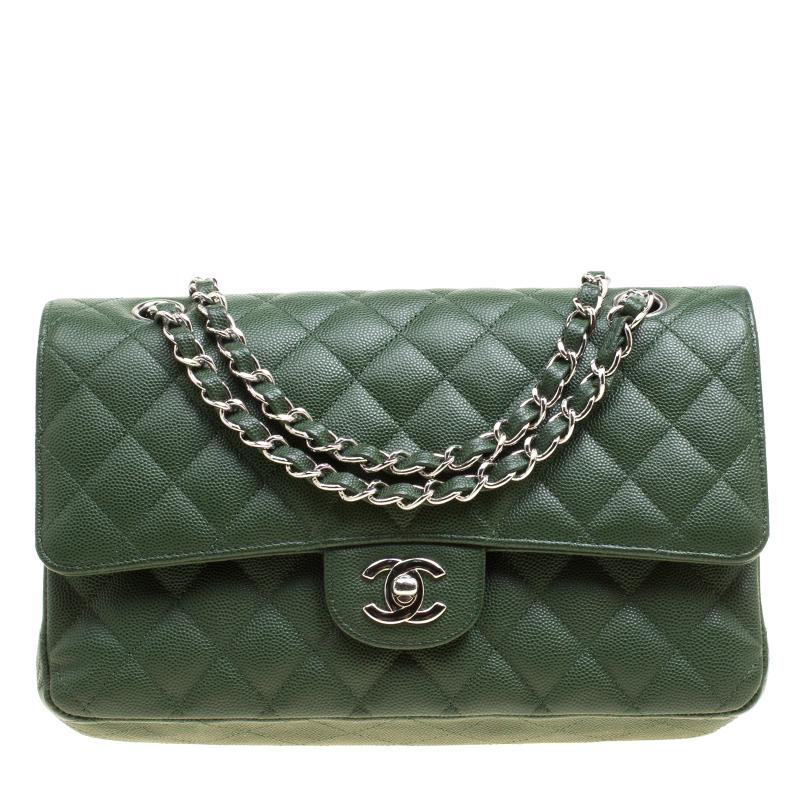 8e70d9864de9 Chanel Quilted Caviar Leather Medium Classic Double Flap Bag in ...
