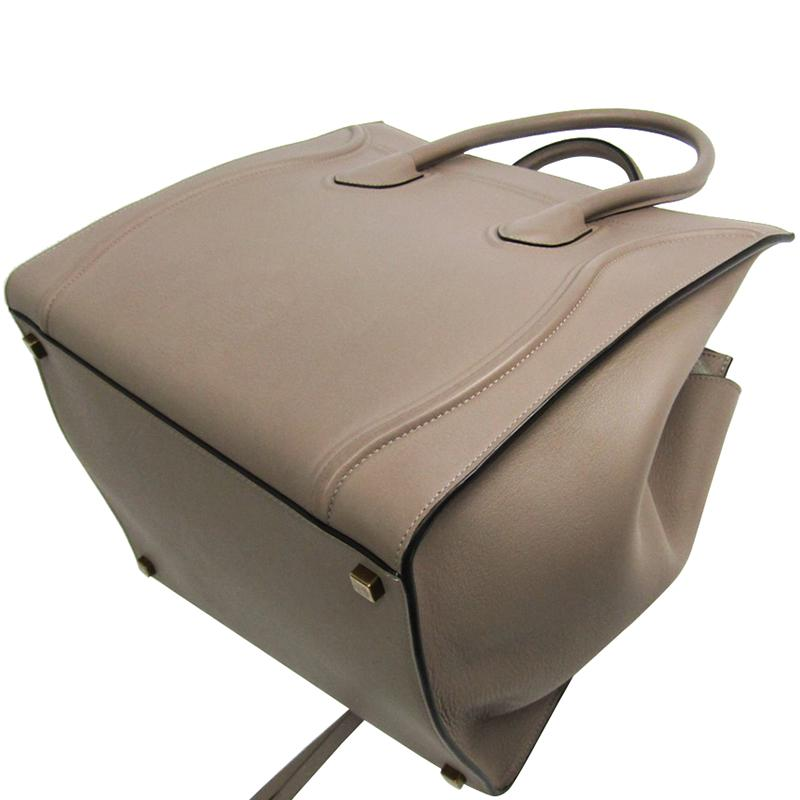 1d8603be04cb Céline Taupe Calfskin Leather Medium Phantom Luggage Tote in Brown ...