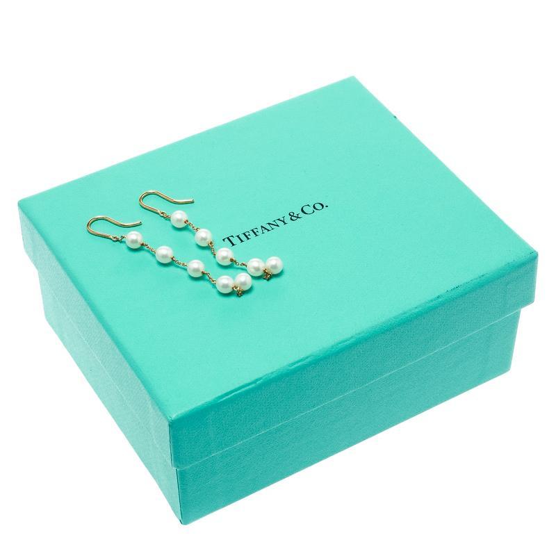 02beef029 Tiffany Elsa Peretti Pearls By The Yard Drop Earrings - Image Of Earring