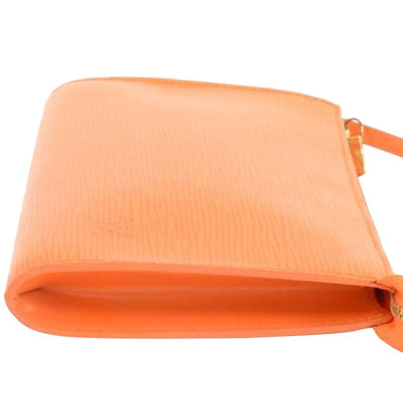 a19b00073934 Louis Vuitton - Orange Mandarin Epi Leather Pochette Accessoires 24 - Lyst.  View fullscreen
