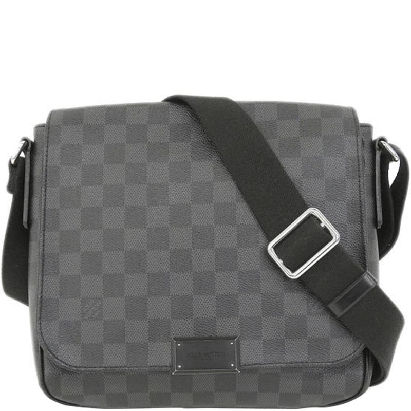 29914bd307d7 Louis Vuitton Damier Graphite Canvas District Pm Bag in Gray for Men ...