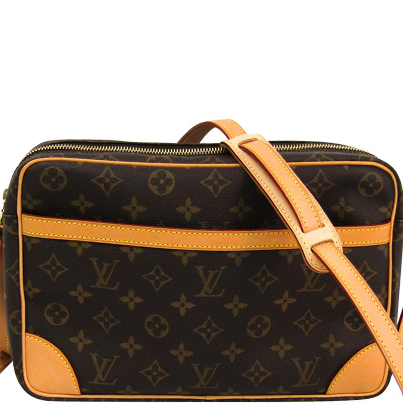 96e9dc0dd010 Lyst - Louis Vuitton Monogram Canvas Trocadero 30 Bag in Brown