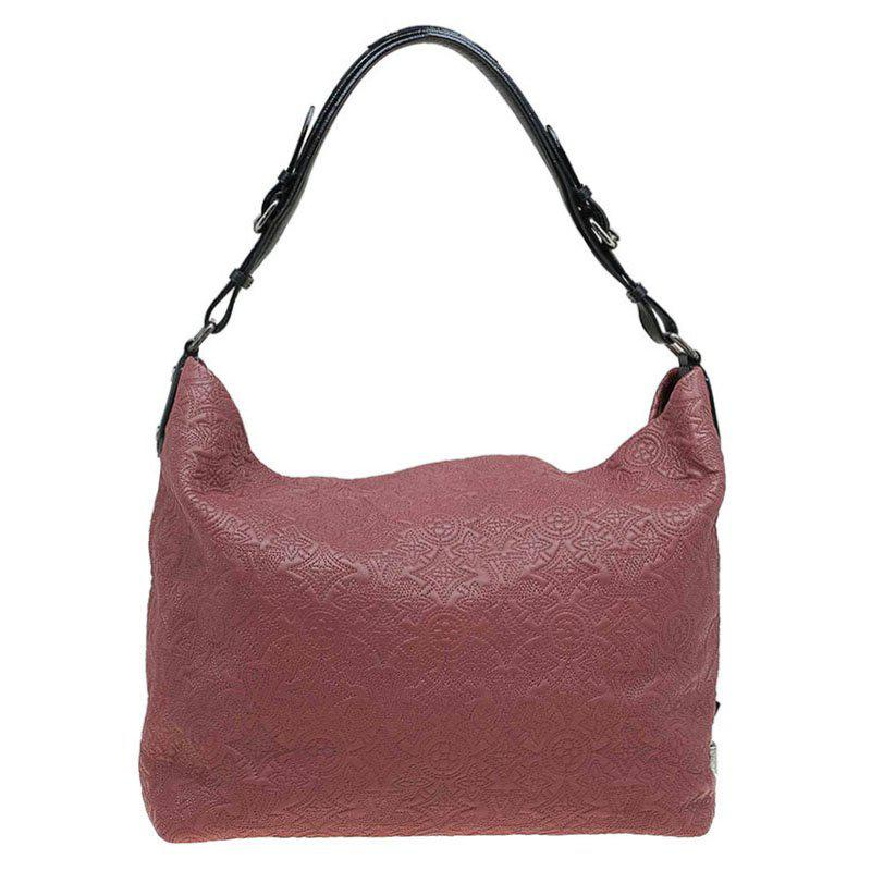 Louis Vuitton Women S Red Framboise Monogram Antheia Leather Hobo Pm Bag