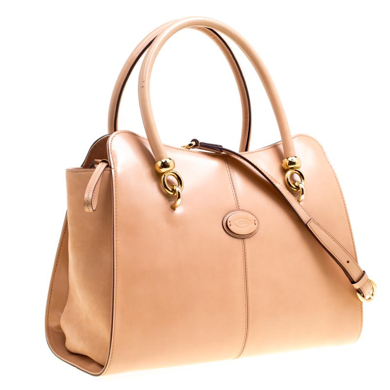 499ca81c43f Tod's - Blush Pink Leather Top Handle Shoulder Bag - Lyst. View fullscreen