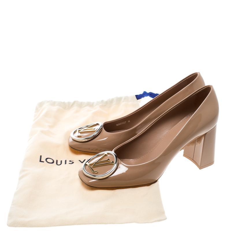 56c7e4ecbe99 Lyst - Louis Vuitton Patent Leather Madeleine Square Toe Pumps in ...