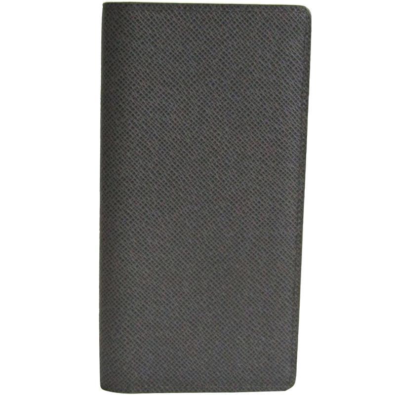 3d9fca1f0a9 Louis Vuitton Glacier Taiga Leather Brazza Wallet in Black for Men ...