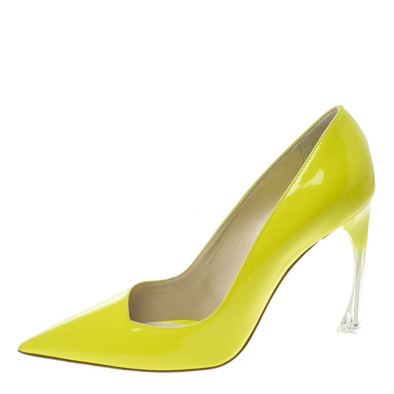 1f9caaa73 Dior - Lime Green Leather Songe Pointed Toe Pumps Size 39 - Lyst. View  fullscreen