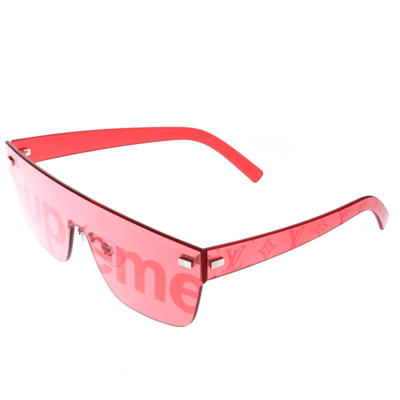 9304d427be651 Louis Vuitton - X Supreme Red Z0985u City Mask Shield Sunglasses for Men -  Lyst. View fullscreen