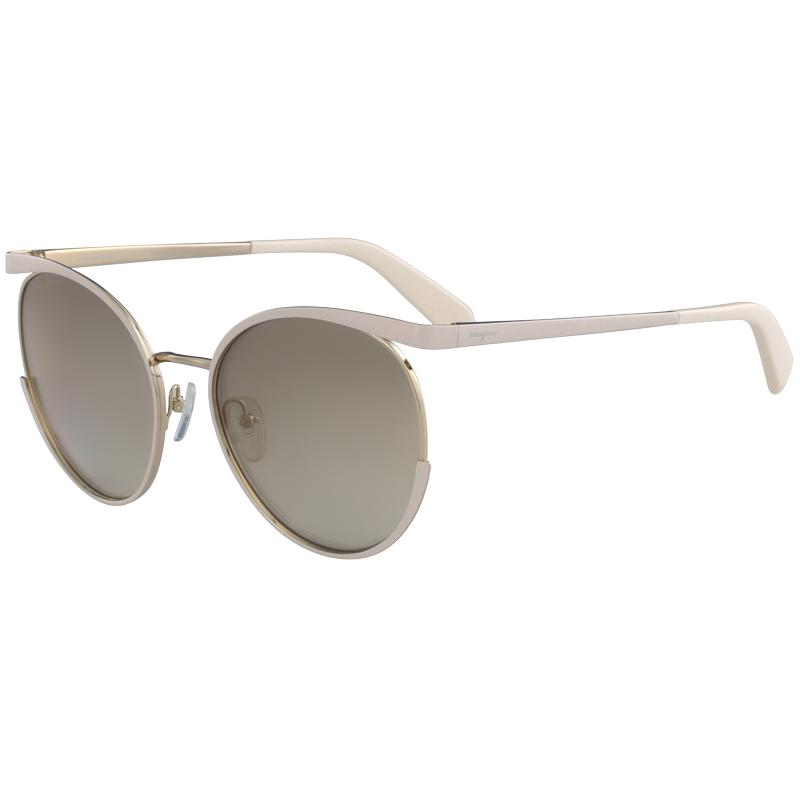 952e569d81 Ferragamo. Women s Ivory gold Sf165s Aviator Sunglasses