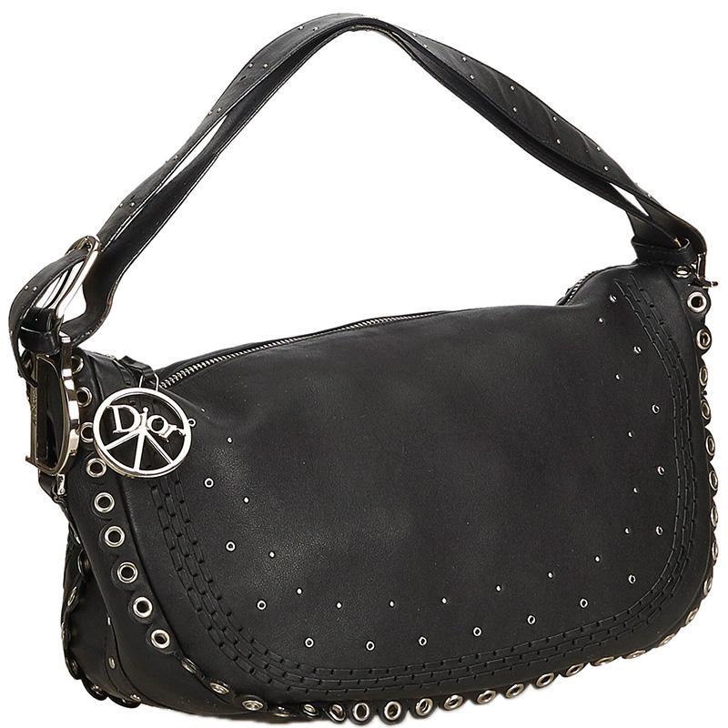 Dior - Black Leather Peace   Love Hobo - Lyst. View fullscreen a0254eb30c7c3