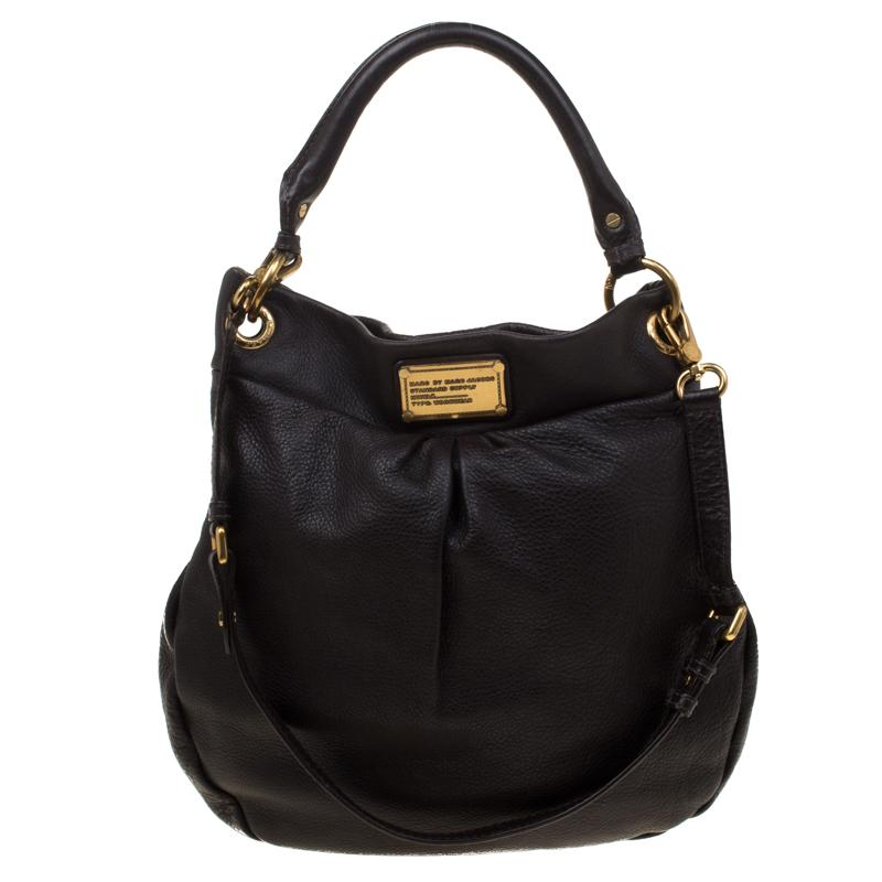 7f2369a7456 Marc By Marc Jacobs. Women's Dark Brown Leather Classic Q Hillier Hobo