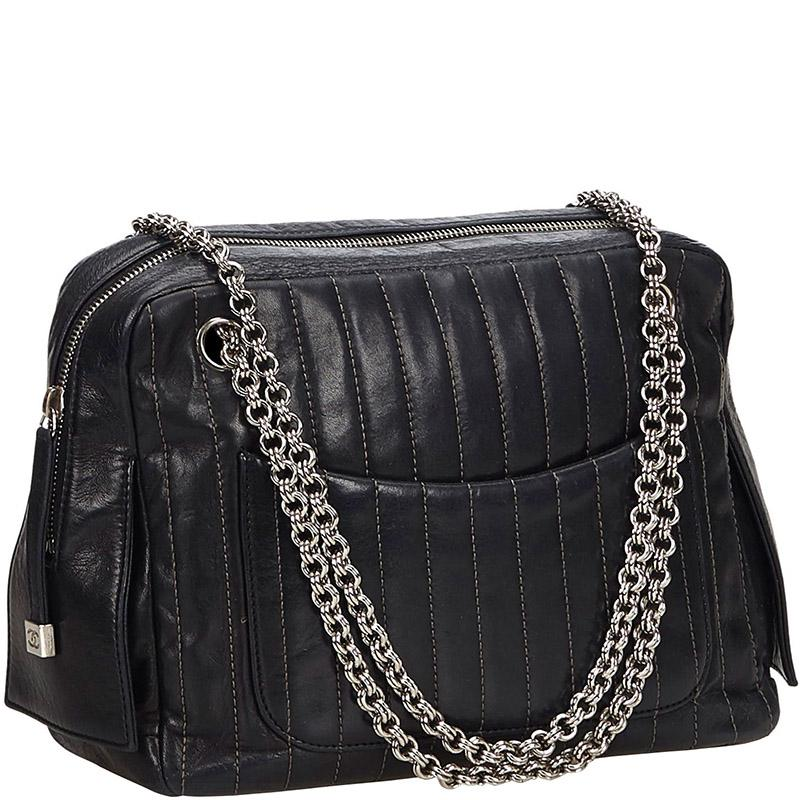 bb0096cc4a27 Chanel - Black Mademoiselle Leather Chain Shoulder Bag - Lyst. View  fullscreen