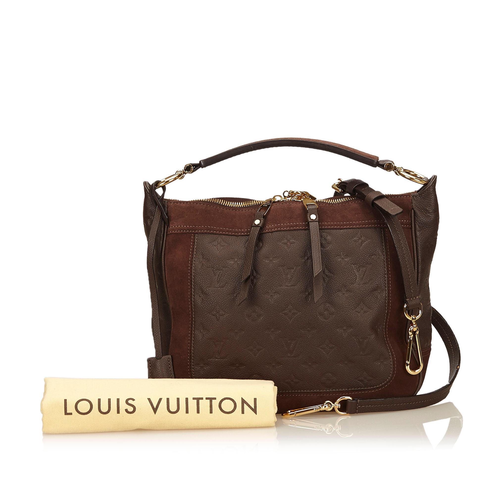 3e18ddcd1c55 Lyst - Louis Vuitton Brown Empreinte Leather Audacieuse Pm in Brown