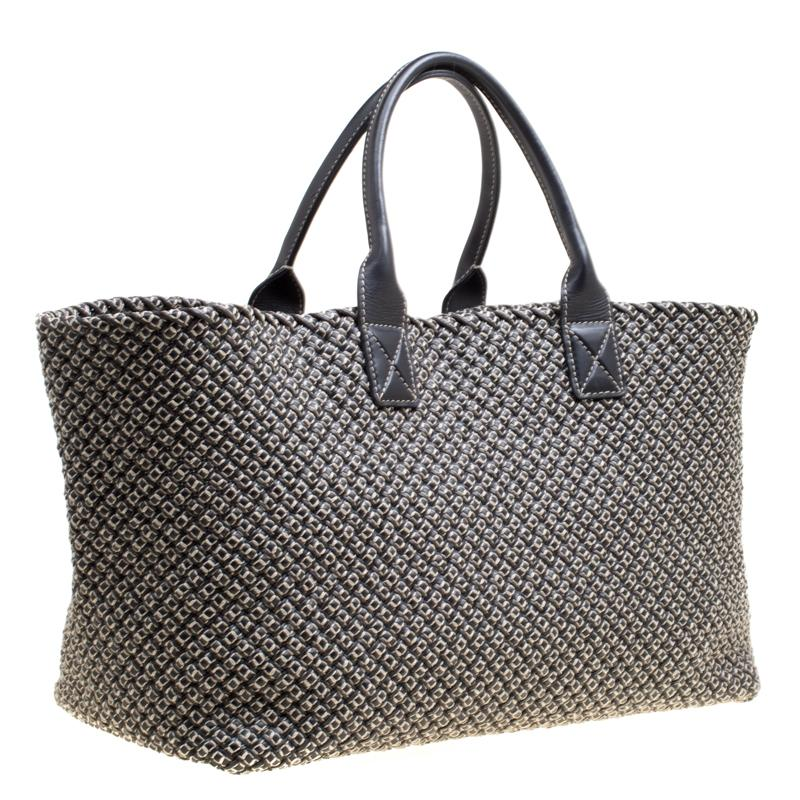 6afe40ca5a01 Bottega Veneta - Gray Dark Woven Leather Large Limited Edition 053 500 Cabat  Tote -. View fullscreen