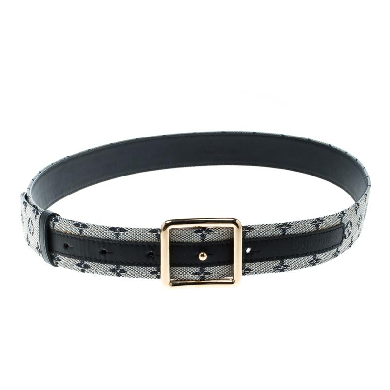 b9036d012793 Louis Vuitton Encre Monogram Mini Lin Belt 90 Cm in Gray - Lyst