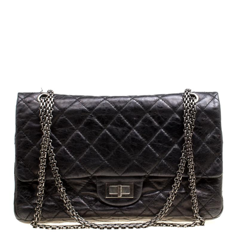 82f58d15197744 Chanel. Women's Black Quilted Leather Reissue 2.55 Classic 227 Flap Bag
