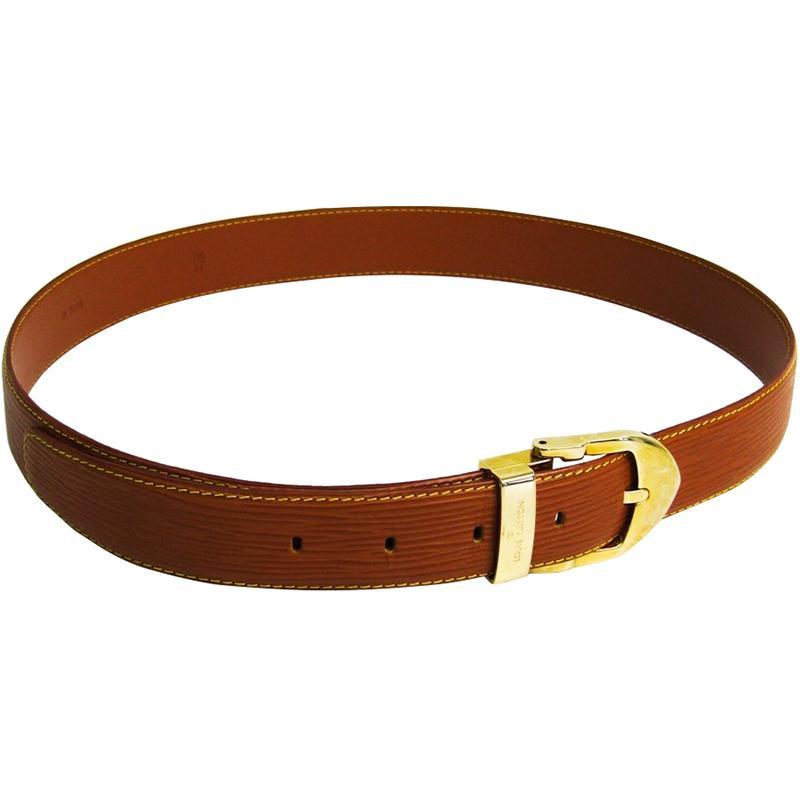 ec8c1934b8f8 Louis Vuitton. Women s Brown Gold Cipango Epi Leather Classic Ceinture Belt  110cm