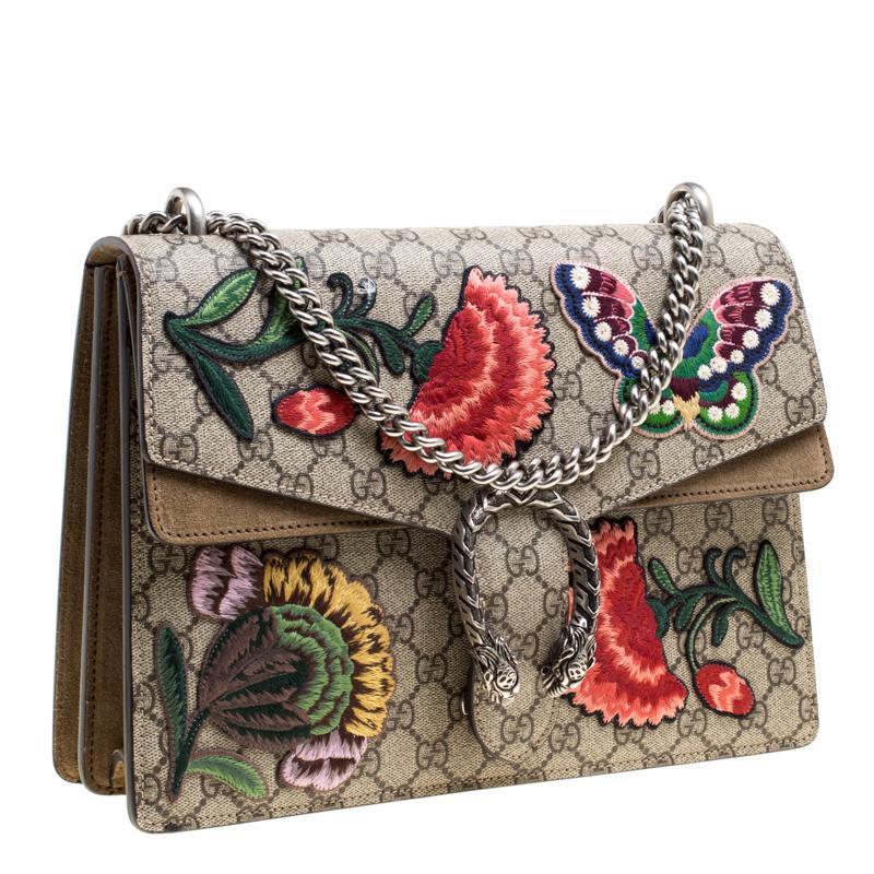 a682e41af Lyst - Gucci Gg Supreme Canvas Embroidered Dionysus Shoulder Bag in ...