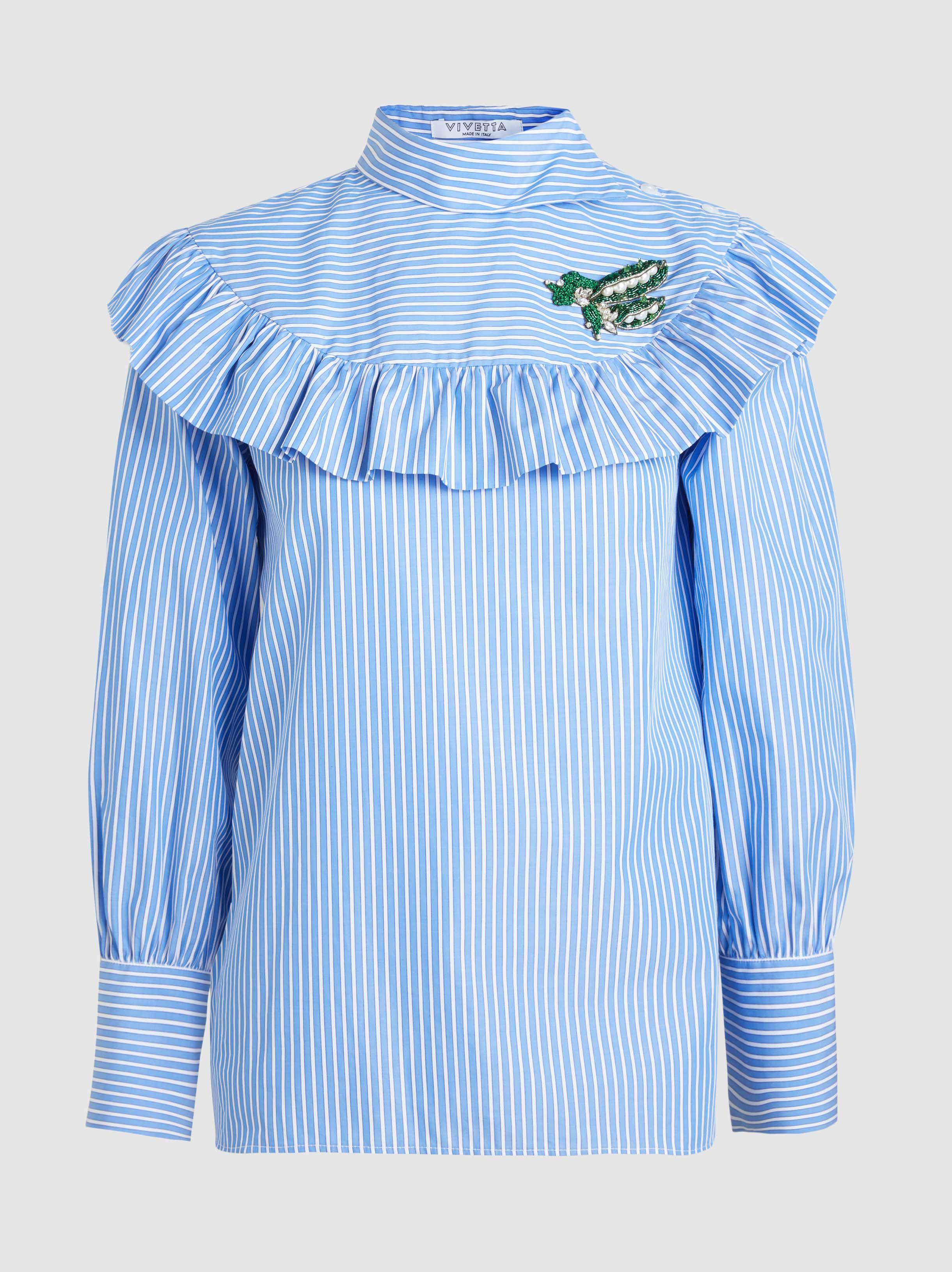 Countdown Package Cheap Price Corriere Embroidered Cotton Blouse Vivetta Release Dates Cheap Price Buy Cheap New Arrival 9OHYg