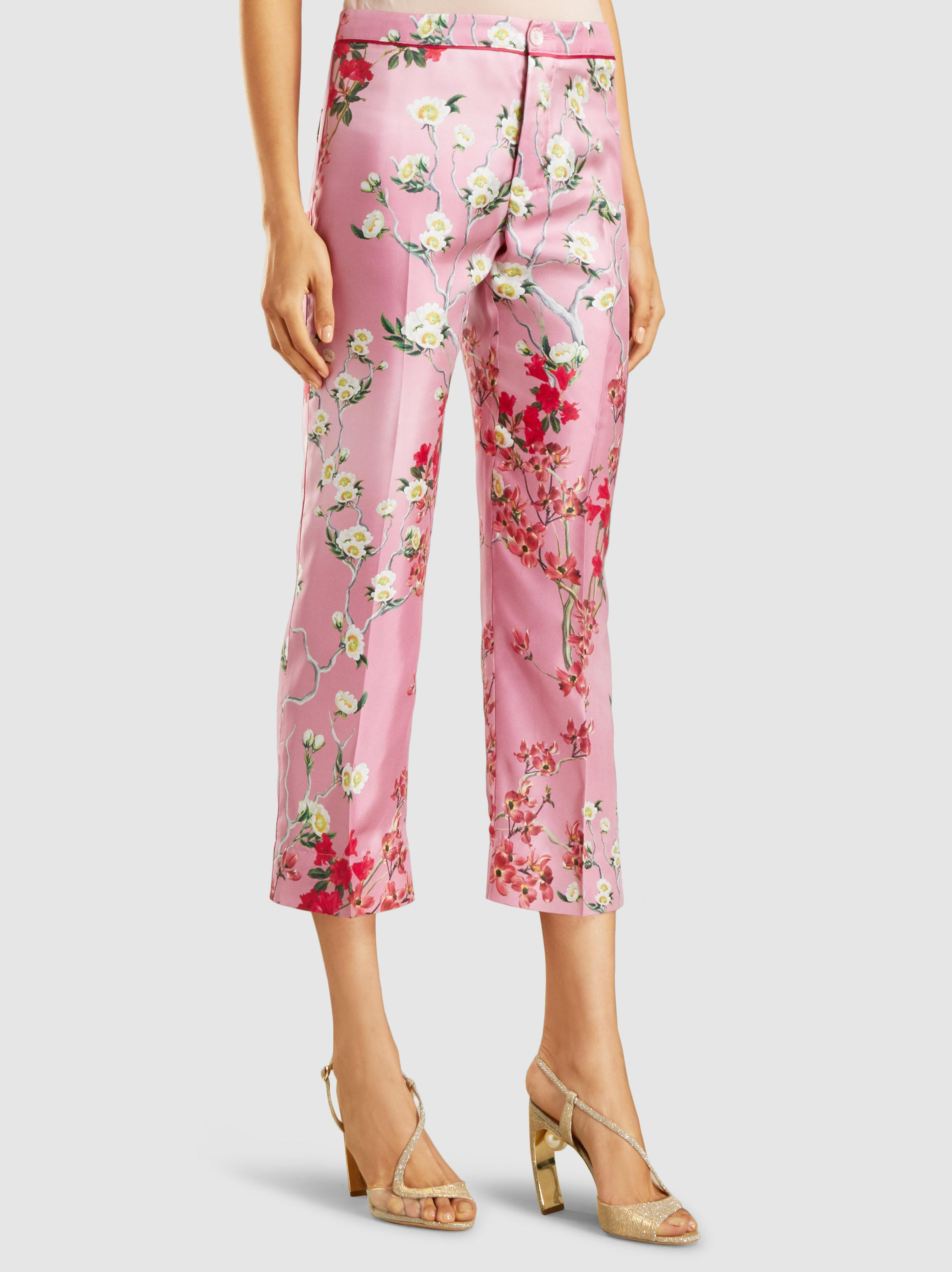 Etere Printed Silk Cropped Trousers F.R.S. For Restless Sleepers yH1fVTTo9