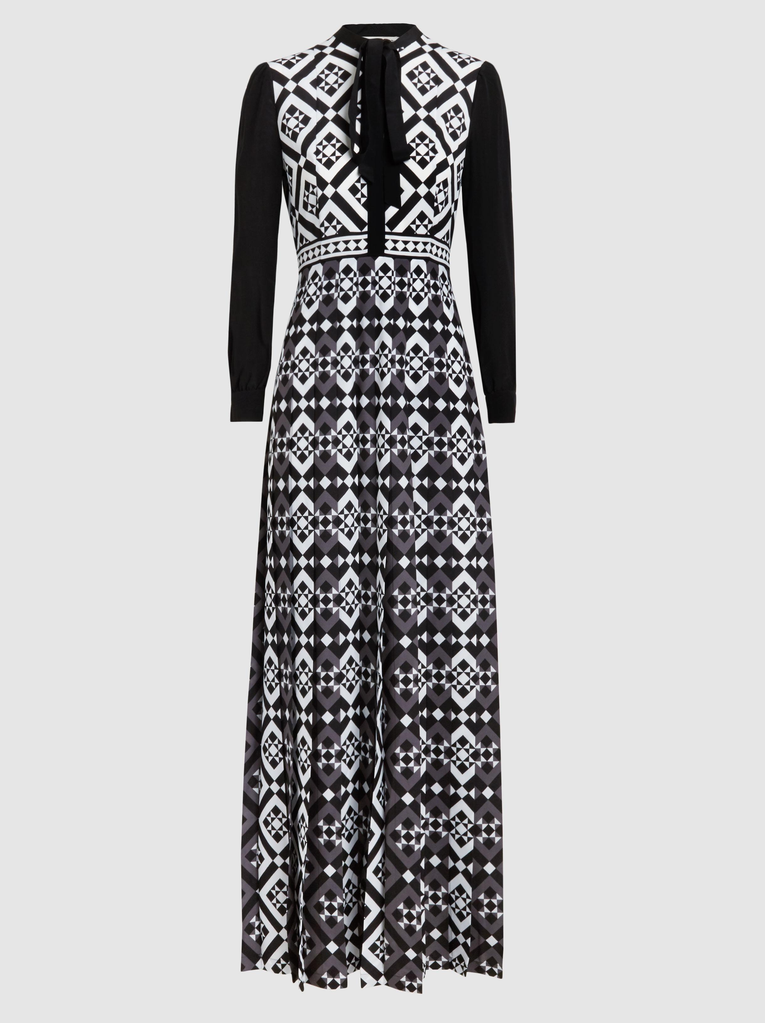 cf3eafe407ba Mary Katrantzou. Women's Black Duritz Tile Print Crepe De Chine Dress