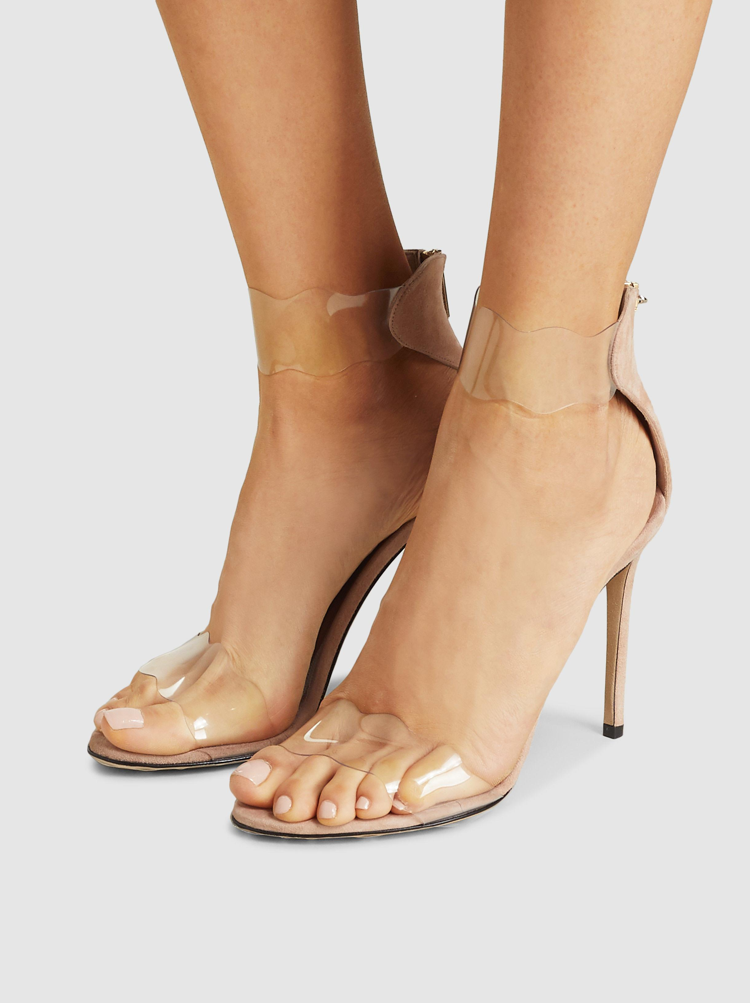 f158460e64c8a Lyst - Marskinryyppy Nude And Clear Pvc Stiletto High Heel in Natural