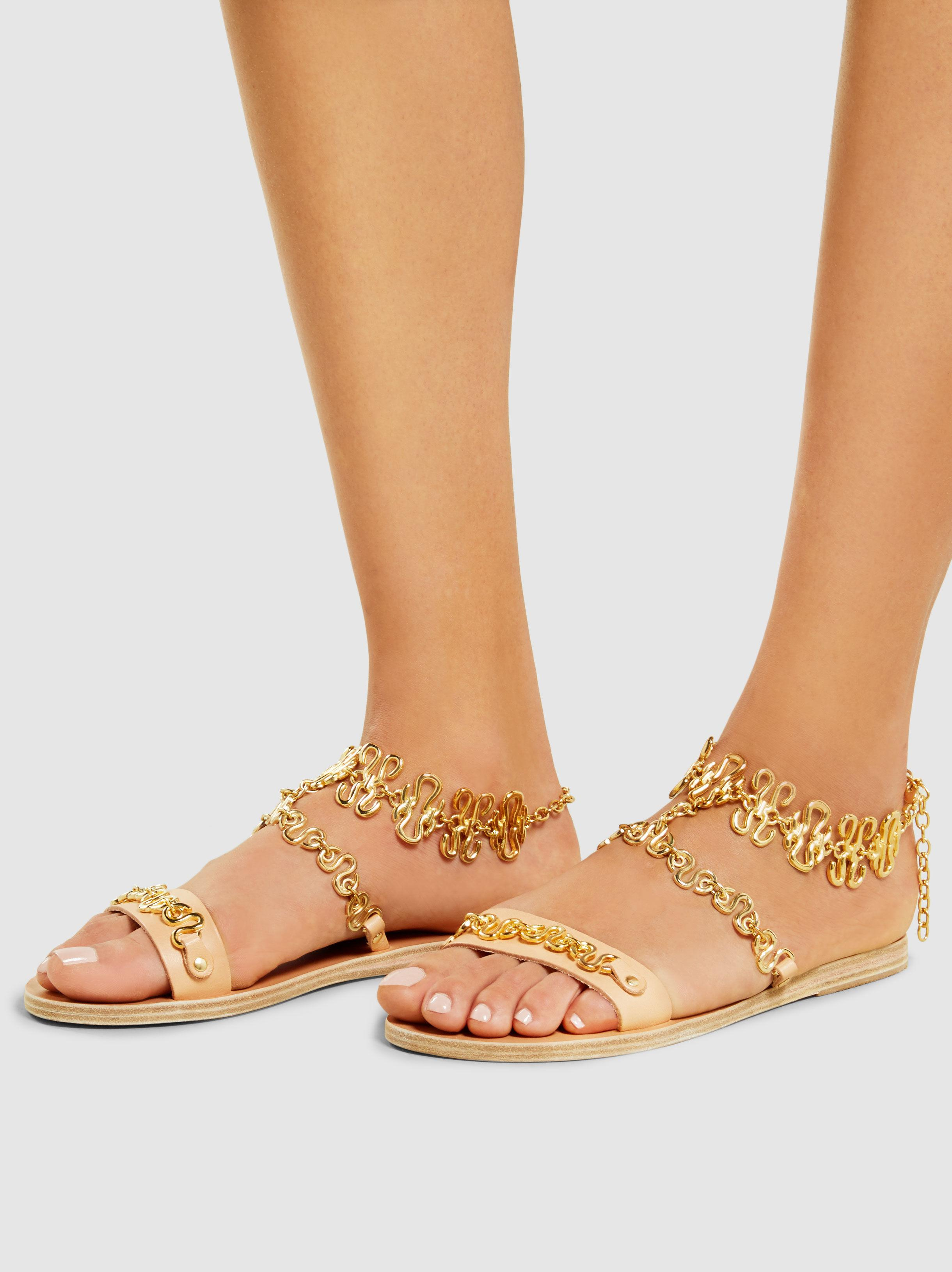 Buy Cheap Newest Clearance Manchester Great Sale Nyx Chain-Embellished Leather Sandals Ancient Greek Sandals Discount Nicekicks 2018 New Online Nny3WVKl