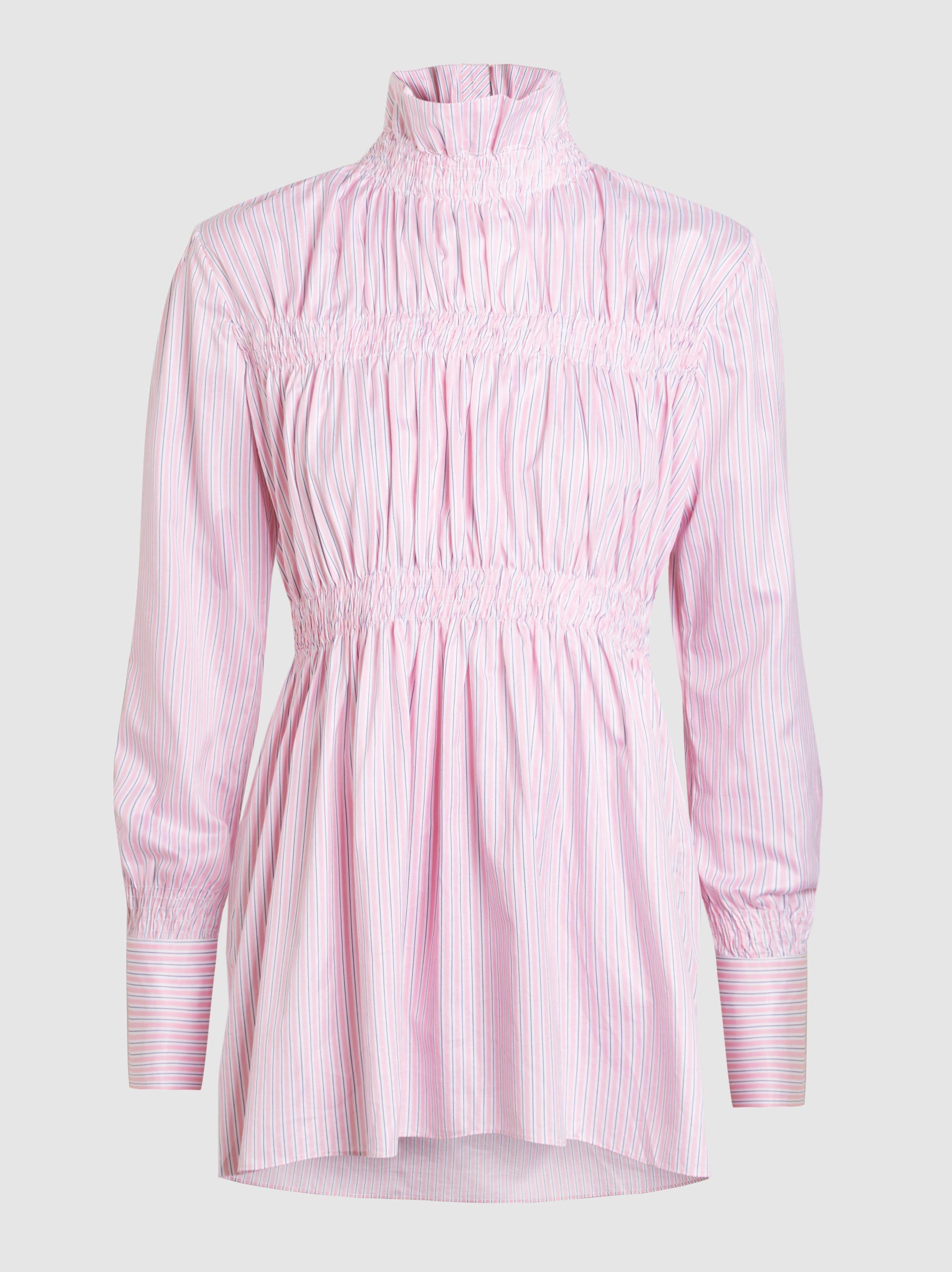 Striped Smocked Cotton Shirt Teija Online Cheapest VYsX5VB2Uk