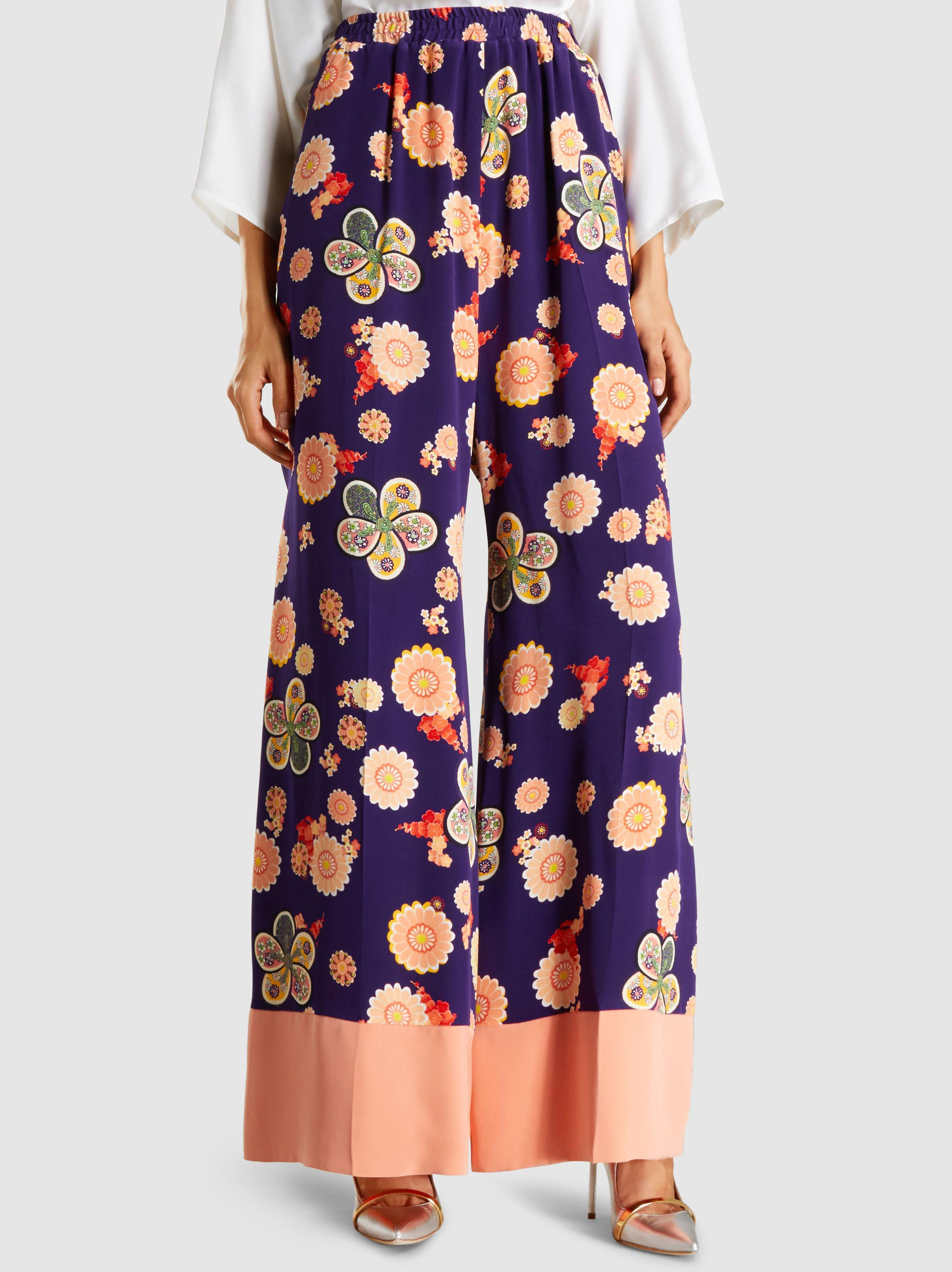 Real Shop Your Own Silk floral printed trousers Racil Free Shipping Get Authentic Ucqw67