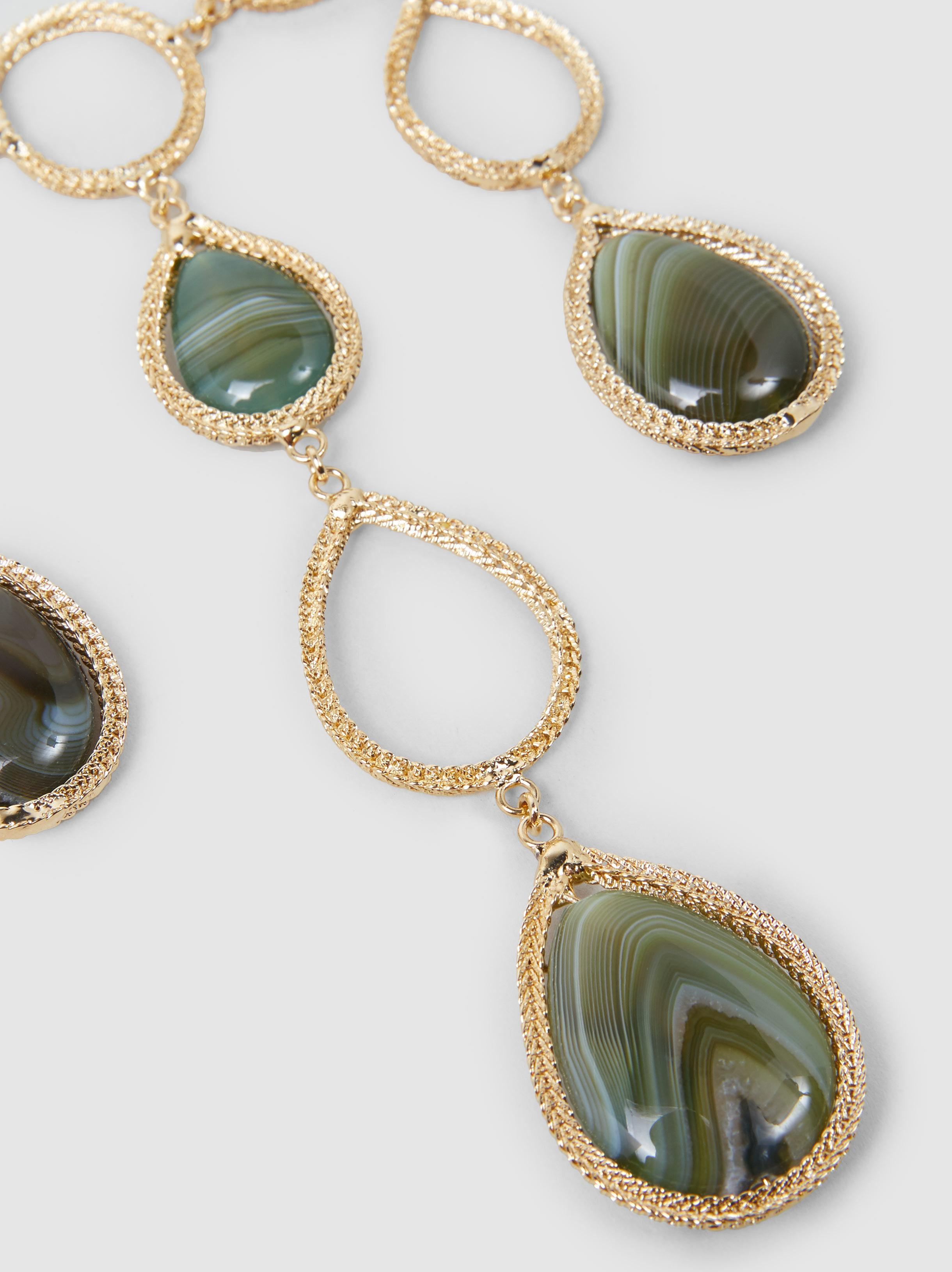 Scarabeo agate-drop necklace Rosantica