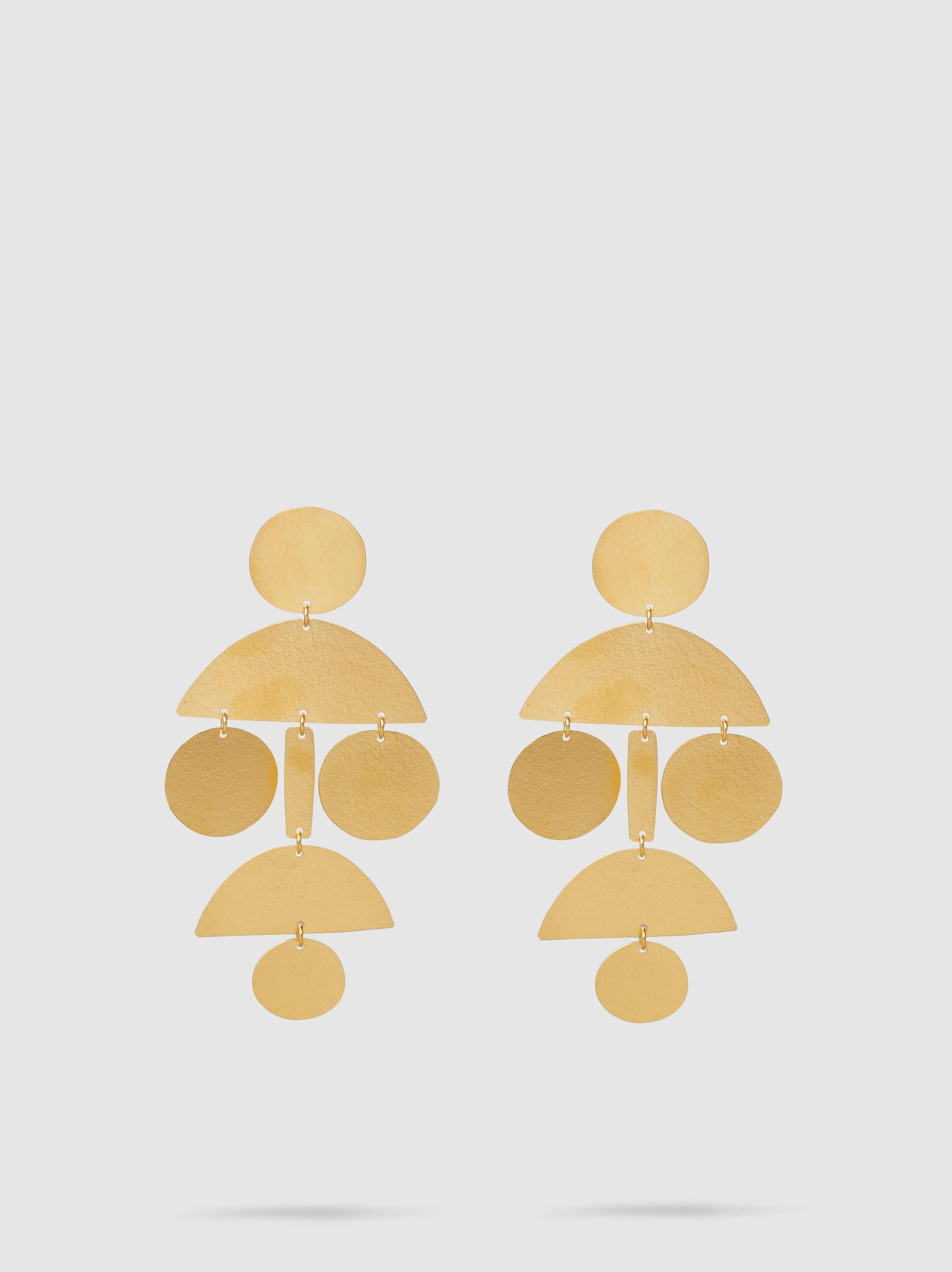 Annie Costello Brown Mini Arc Drop earrings - Metallic 7c1VQE